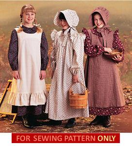 Image Is Loading Sewing Pattern Make Pioneer Prairie Costume Dress
