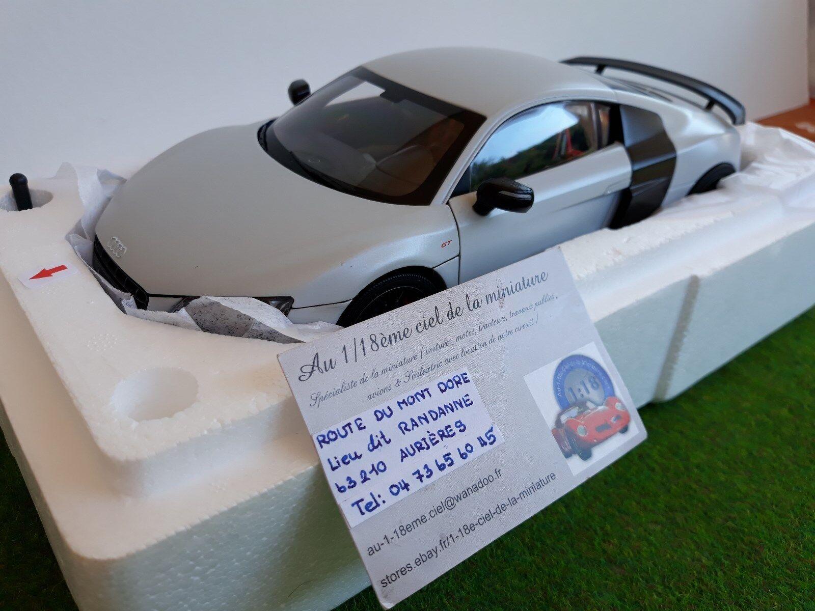 Audi r8 gt suzuka gris gris 1  18 kyosho 09218sgr miniature collectible voiture  meilleur service