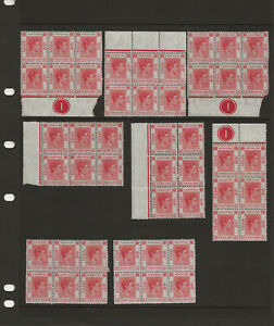 8-Blocks-Of-6-MNH-Fifteen-Cents-1938-1948-Hong-Kong-159B-King-George-VI-Mint
