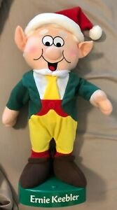 "Advertising ""ernie Keebler"" 15"" Musical & Motion Doll Stand Elf Elves Cookie Character"