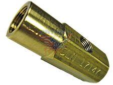 "Delavan brass siphon nozzle adapter 1/8"" NPT oil intake and 1/4"" NPT air intake"