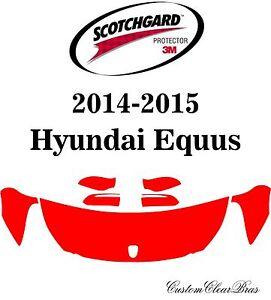 3M Scotchgard Paint Protection Film Clear Pre-Cut Fits 2014 2015 Hyundai Equus