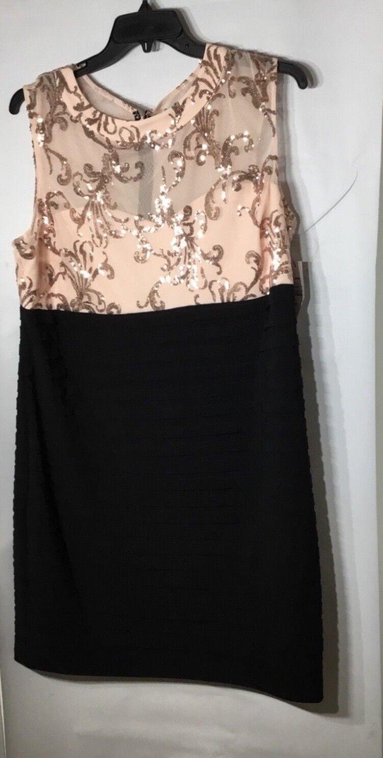 damen's Scarlet Peach Sequin Dress Größe 20W