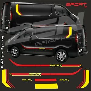 Renault-Traffic-Sport-Decals-stickers-stripes-vauxhall-vivaro-anycolour-quality