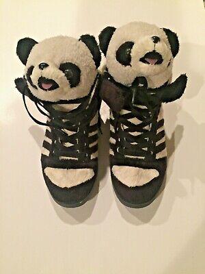 Rare 2011 Exclusive Adidas Jeremy Scott Panda Bear Mens Shoes Size 9.5