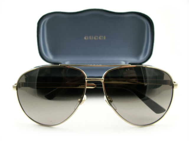 ae83c8d0e6b Gucci Gg0137s 001 Sunglasses Gold Frame Brown Lenses 61mm for sale ...