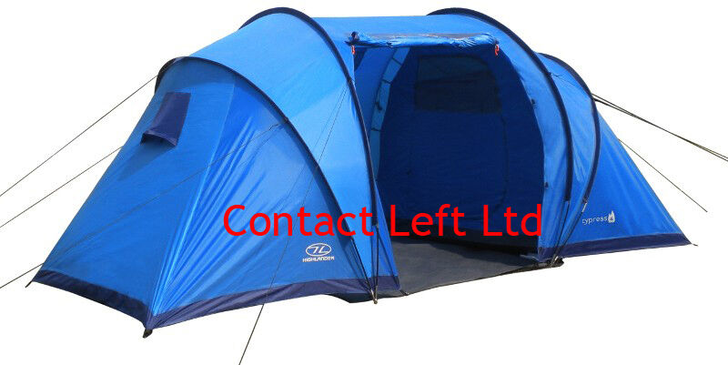 Highlander Cypress Tent - 4 To 6 Man Tents For Camping or Festivals