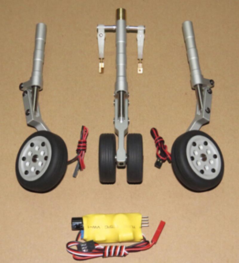 JP Rc Doble Con Ruedas Mango de Metal retirar Engranaje Rueda para 3-4 kg modelo de avión