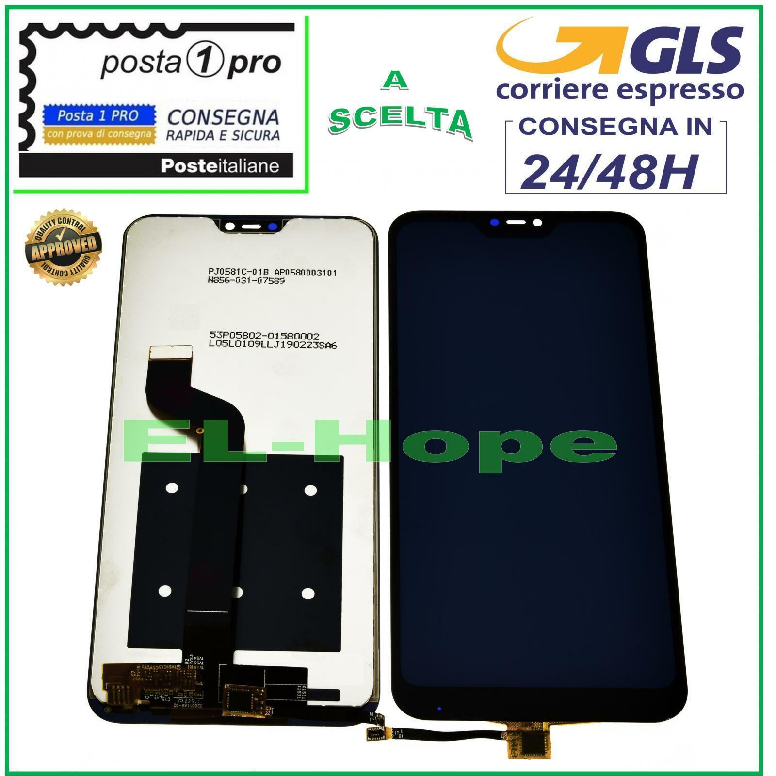 xiaomi: DISPLAY LCD XIAOMI MI A2 LITE Redmi 6 Pro TOUCH SCREEN SCHERMO VETRO NERO