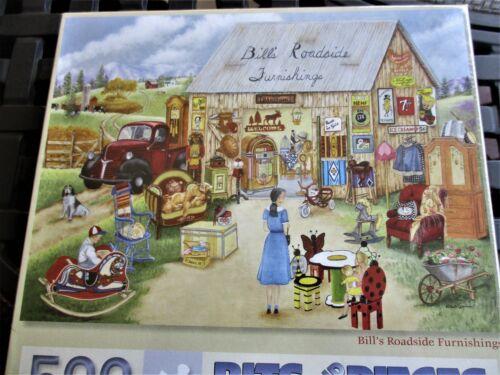 """Shannon Art Puzzle /""""Bill/'s Roadside Furnishings/"""" New  18 x 24 500 Piece Kay L"""