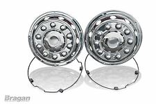 """To Fit Scania Volvo DAF 22.5"""" Universal Truck Lorry Front Wheel Trims Covers"""