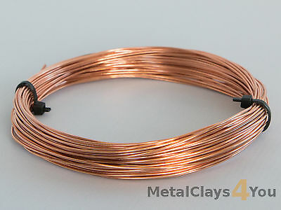 Unplated Copper Round Wire 0.4mm to 5.0mm Jewelry Making / Wire Craft