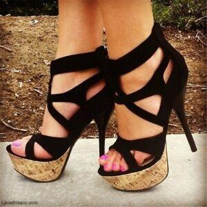 plus size 420 women sexy sandals platform high heels