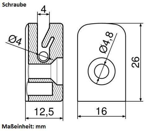 Drahthalter Spanndrahthalter Maschendrahtzaun Zaun mit Schraube oder Hakenbolzen