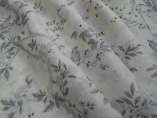 Ralph Lauren Curtain Fabric 'Marlowe Floral Sheer' 2 METRES (200cm) Dove Voile