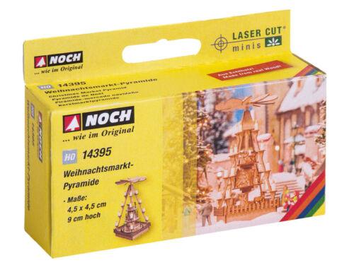 #NEU in OVP Noch 14395 HO L-C Weihnachstsmarkt-Pyramide LASER CUT minis Bausatz