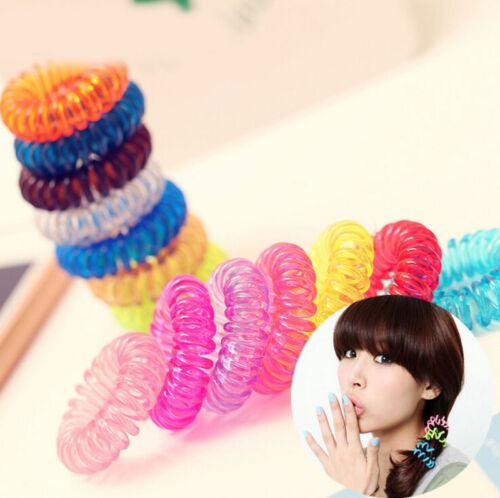 5//10Pcs Mixed Elastic Rubber Hairband Hair Tie Rope Ring Band Ponytail Holder