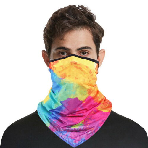 Face Mask Scarf Bandana Balaclava Cycling Neck Tube Scarf Snood Biker Warmer tp