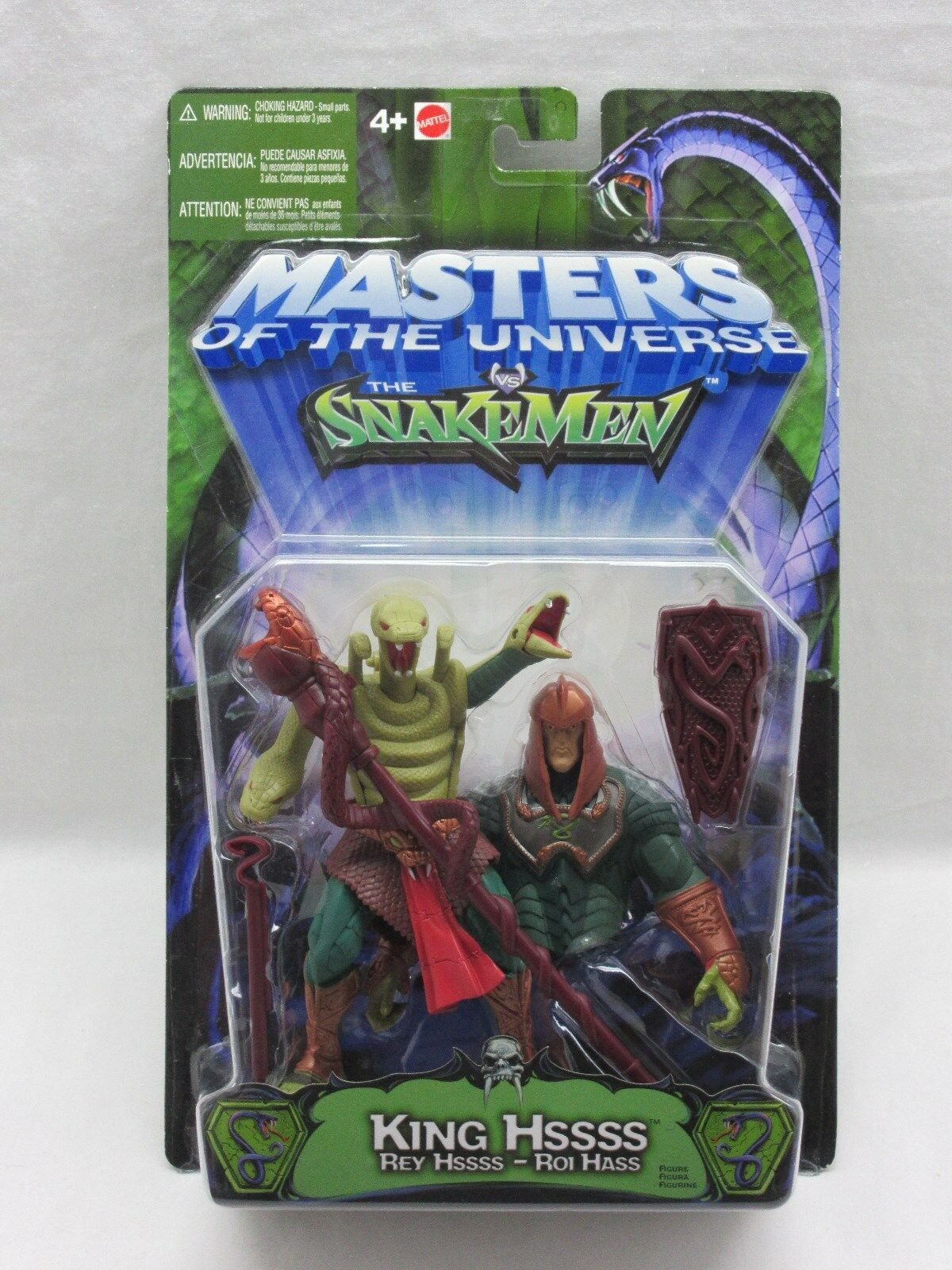 MOTU,200X,KING HSSSS,HISS,Masters of the Universe,MOC,carded,Sealed,He Man