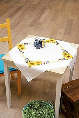 PN-0021761 Cross Stitch Kit Sunflowers Tablecloth Vervaco