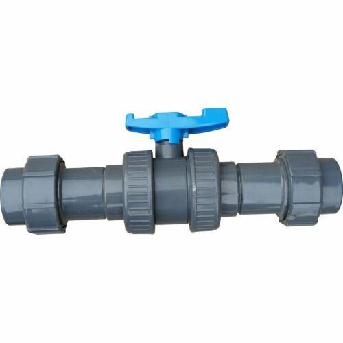 PP Kugelventil für Flex-Rohr Flexschlauch 50 mm PE-Rohr Schwimmbadinstallation