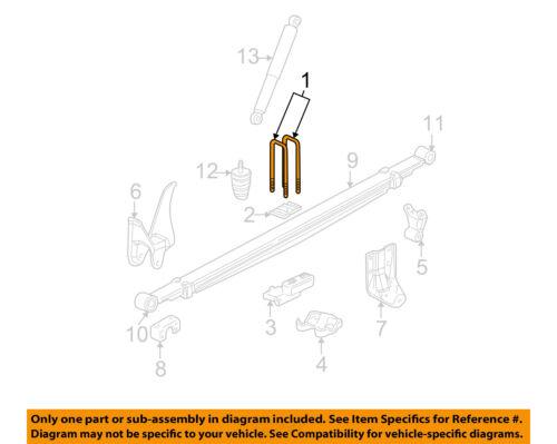 GM OEM Rear Suspension-U-bolt 15734233