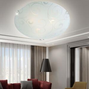 Klassische-Decken-Glas-Beleuchtung-1-flammig-Arbeitszimmer-Muster-Lampe-rund-E27