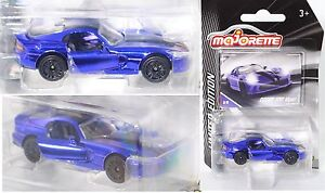 Majorette 212054008 Dodge Viper SRT hellnachtblau LIMITED EDITION Serie 3