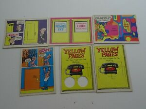 1968-Laugh-in-Trading-card-Lot-of-6