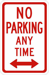 NO-PARKING-ANY-TIME-SIGN-Vinyl-Decal-Sticker-5-Sizes