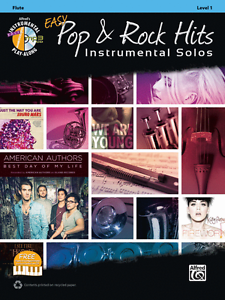 "/""EASY POP /& ROCK INSTRUMENTAL SOLOS/"" FLUTE MUSIC BOOK//CD-BRAND NEW ON SALE!!"