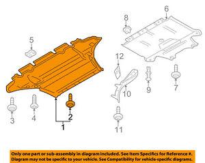 audi oem a4 quattro splash shield fr under radiator engine cover rh ebay com