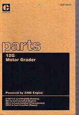 Caterpillar Cat 12g Motor Grader 61m7711 To 12026 Parts Manual