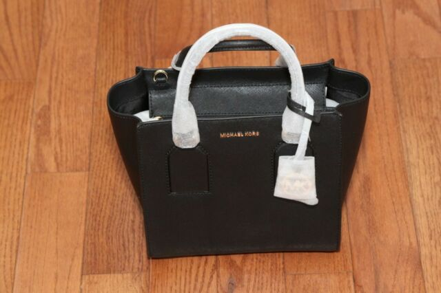 c20a12130c5c Michael Kors Selby Medium Leather Satchel Bag Black 4ollowus for ...