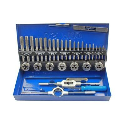 US Pro by BERGEN Tools 32pc Metric Tap And Die M3 - M12 Set NEW 2625