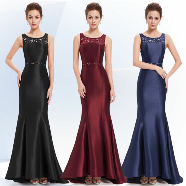 US Women Fishtail Long Evening Party Dress Formal Prom Dress 08511 Ever Pretty