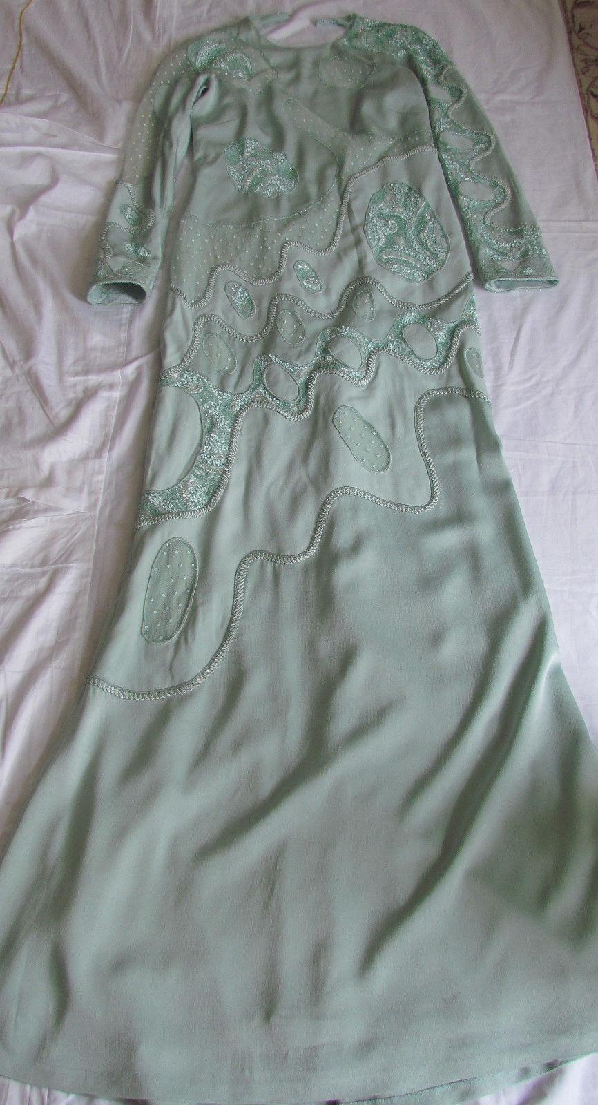 EMILIO EMILIO EMILIO PUCCI Runway Embellished,Lace Parts,Long dress It 44,US 8-10,M-L 685a14