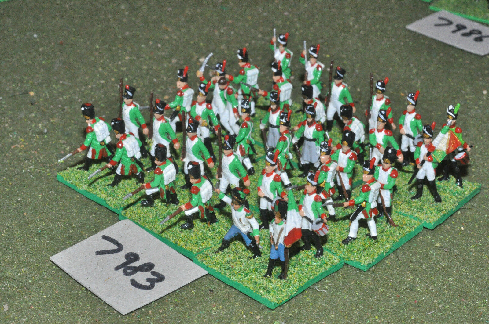 20mm napoleonic   italian - infantry plastic 36 figs painted - inf (7983)