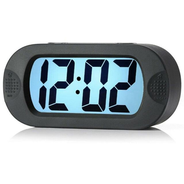 Large Digital Lcd Travel Silica Alarm Clock With Snooze Good Night Light, A B4Y8