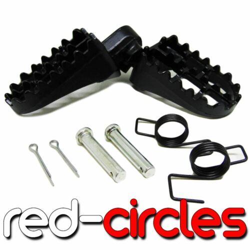 BLACK ALUMINIUM PIT BIKE FOOTPEGS fits 140cc 150cc 160cc PITBIKES