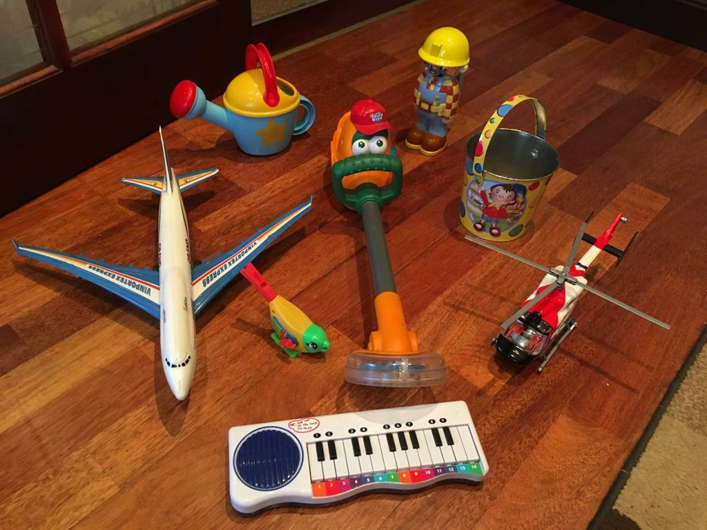 Organ battery operated , hedge strimmer battery operated, plane and other toys