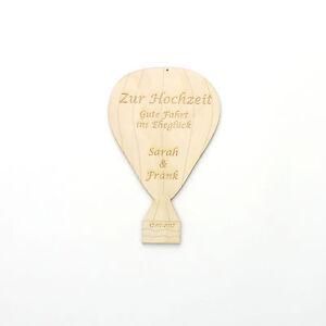 Hochzeitsgeschenk Heissluftballon Graviert Mit Name Vom Brautpaar