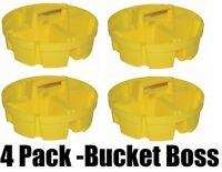(4) Ea Bucket Boss 15051 4 Compartment 5 Gallon Bucket Stacker Storage Organizer