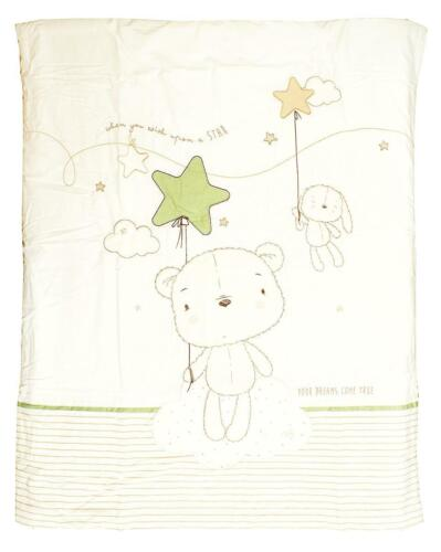 Baby Bedding Set Wish Upon a Star Nursery Cot Quilt  Mobile Curtains Uplighter