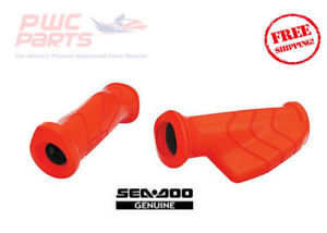SeaDoo OEM RED Handle Grip Set Palm Rest Left & RIght 295100708 Ergonomic 2004+