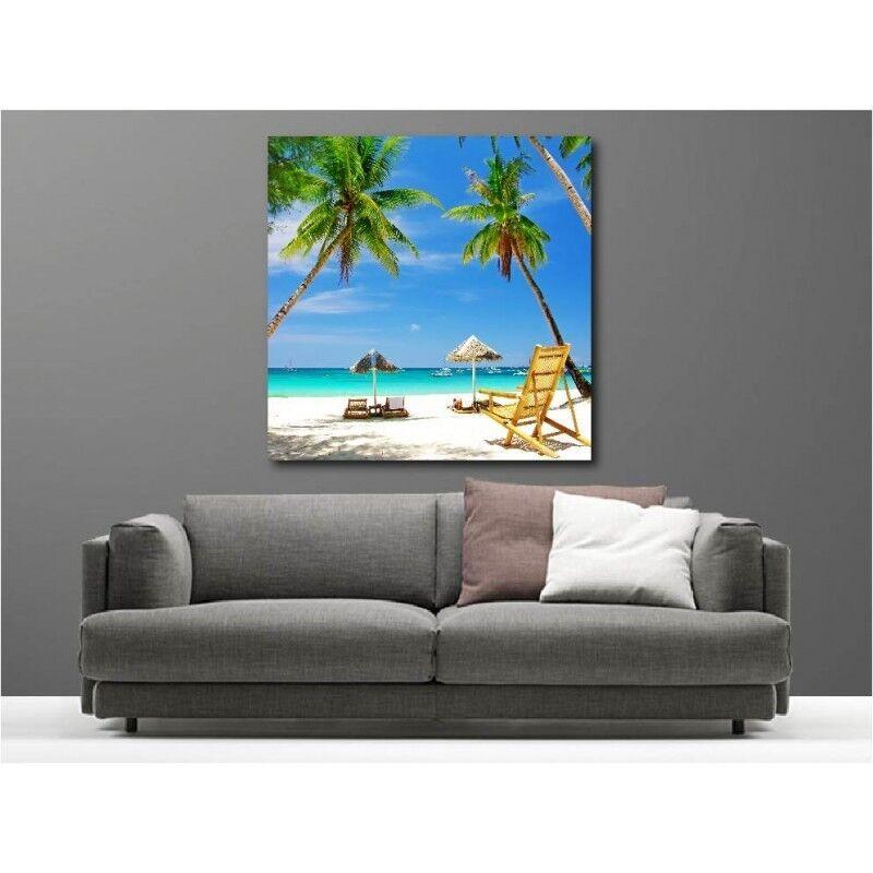 Gemälde Stoff Deko Quadrat der Tropen 51413575