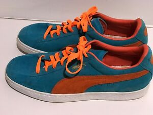1de2a6068ba Puma Leather Suede Miami Colors Orange And Teal Sport Lifestyle ...