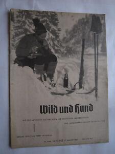 """Antiquitäten & Kunst Jagdzeitung""""wild Und Hund""""46.jahr Nr.41/42 Von 1941,jagd,jagdhund,pirsch Gut Verkaufen Auf Der Ganzen Welt Jäger & Waidmann"""