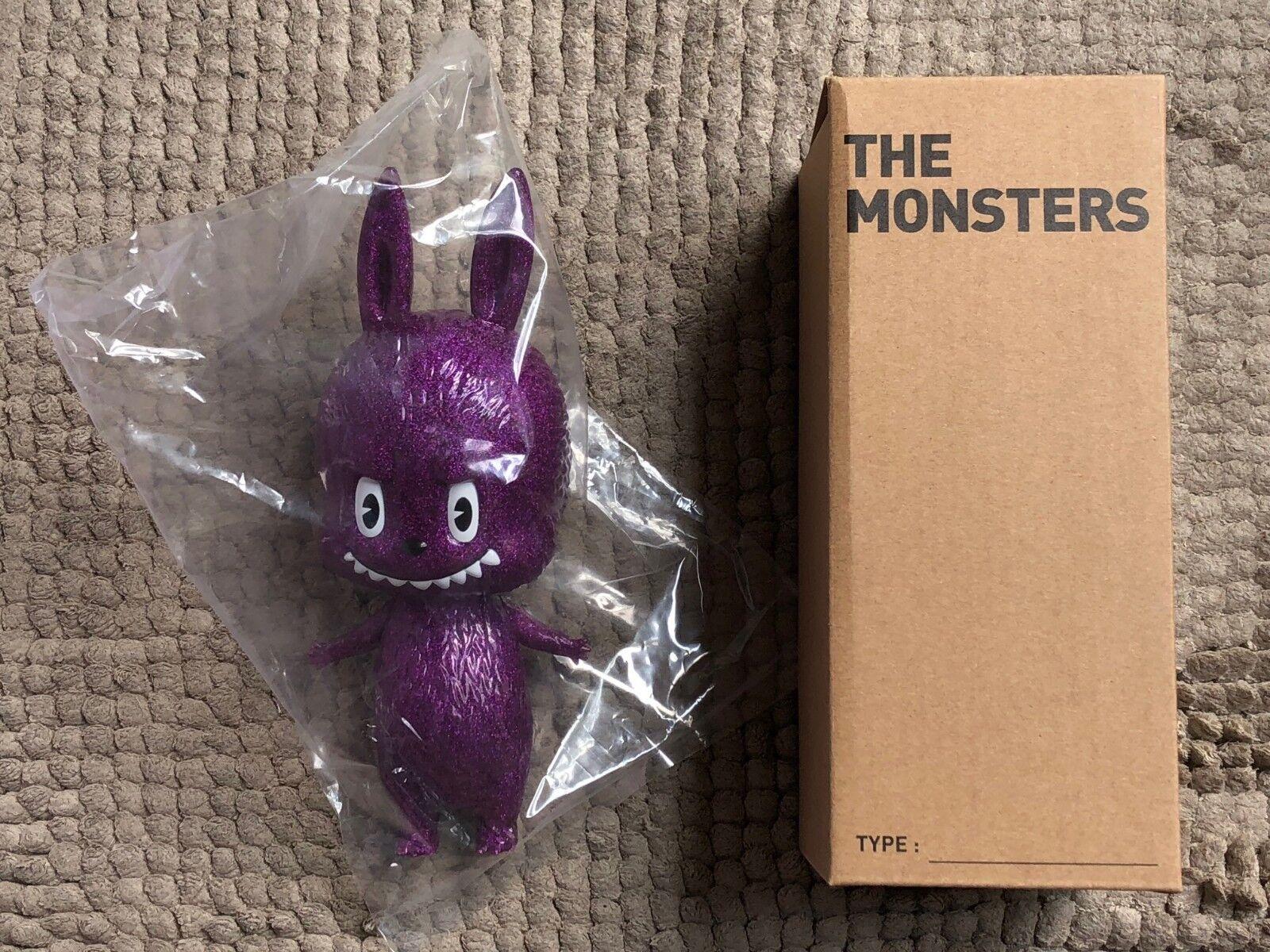 How 2 Work 7  labubu Kasing Lung Verre Violet monstres glitter Sofubi Vinyl Figure