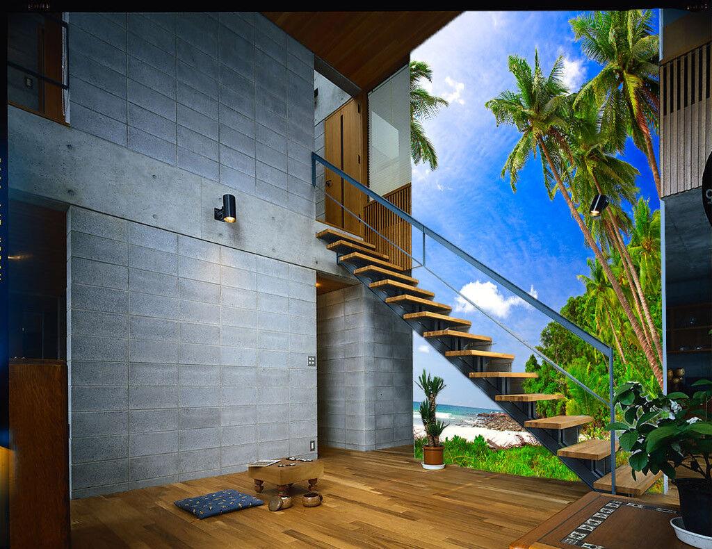 3D Kokosnussbaum 853 Tapete Wandgemälde Tapete Tapeten Bild Familie DE Summer